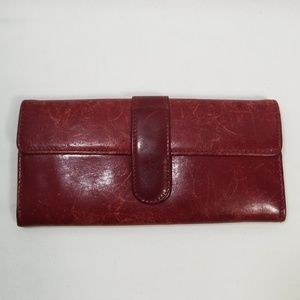 Hobo Red Leather Wallet
